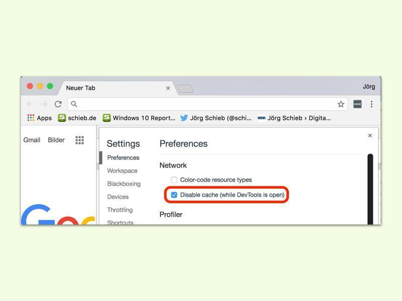 Den Cache in Google Chrome abschalten | GMX.AT