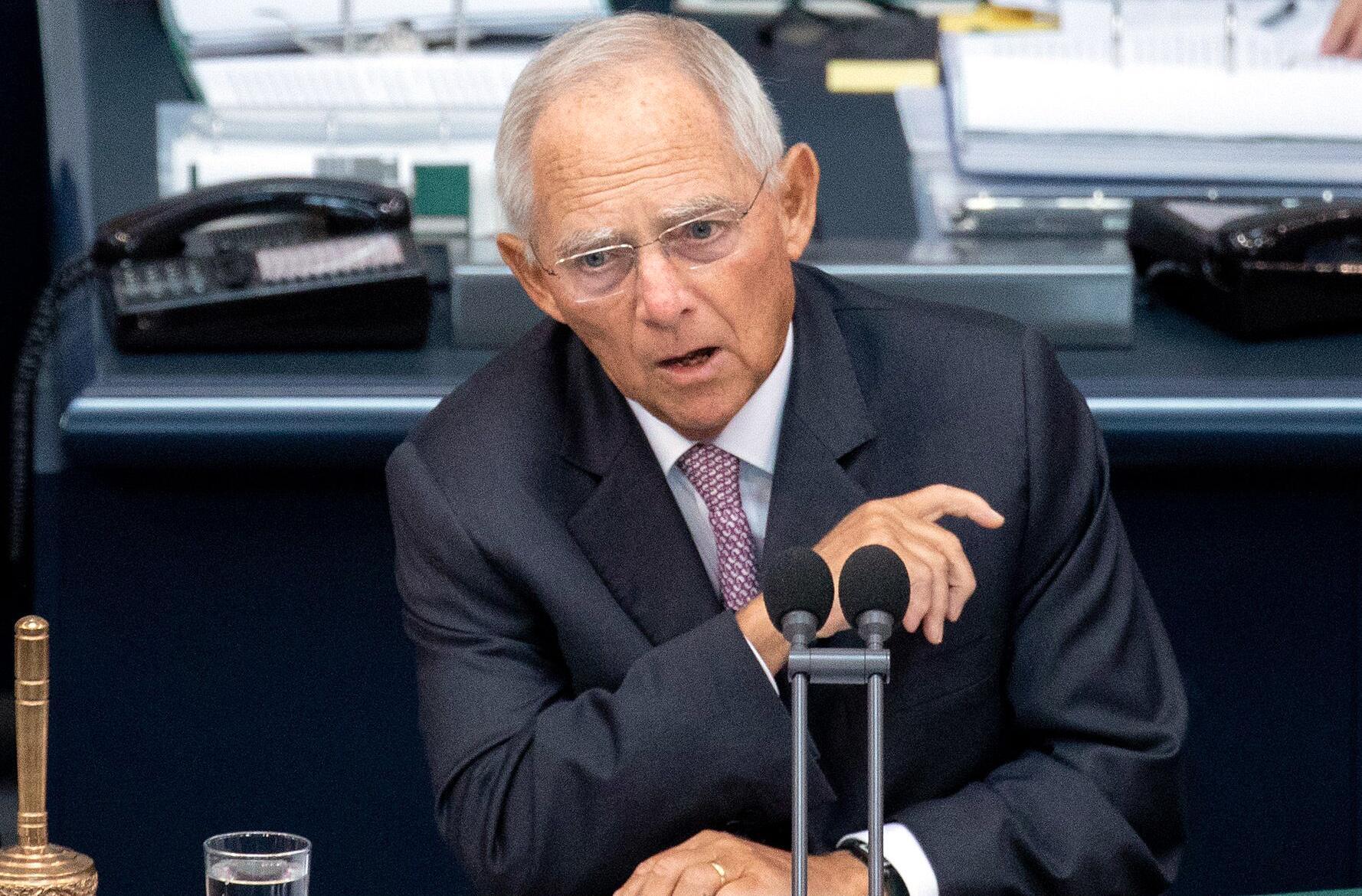 Bild zu Bundestag, Wolfgang Schäuble