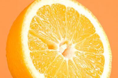 Orangenhälfte