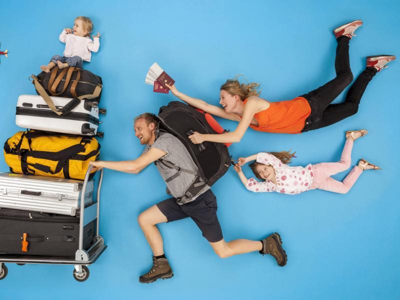 Bild zu Patchwork-Familie auf Reisen