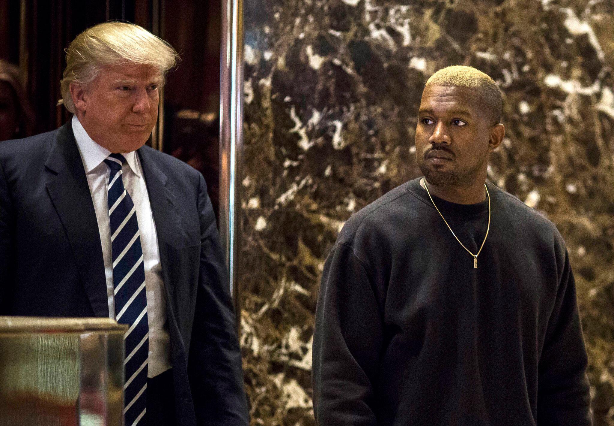 Bild zu US-Präsident Donald Trump und Rapper Kanye West