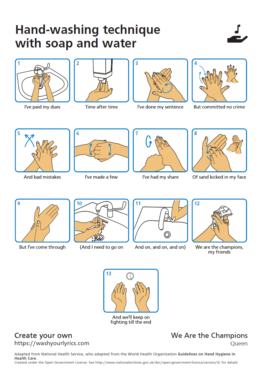 Bild zu Händewaschen, lieder