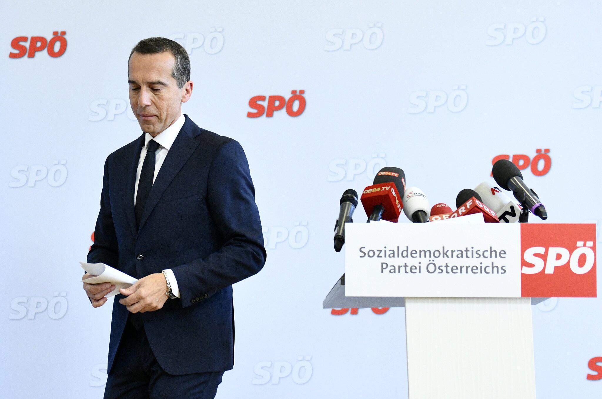 Bild zu Österreichs Ex-Kanzler Kern - PK