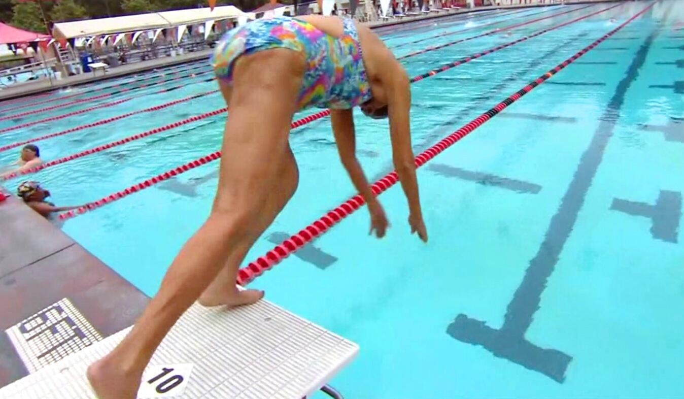 Bild zu Schwimmerin