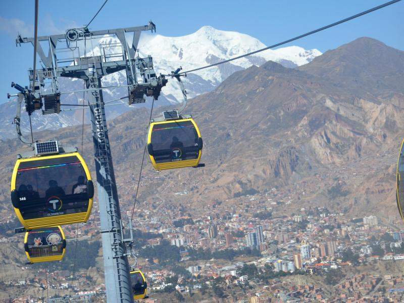 Bild zu Seilbahn in La Paz