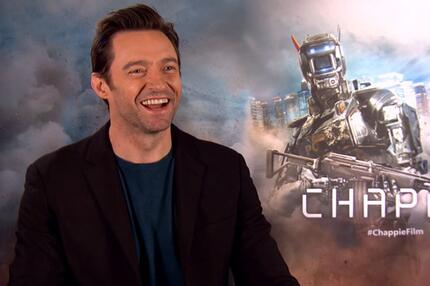 "Hugh Jackman im Interview über den Film ""Chappie""."