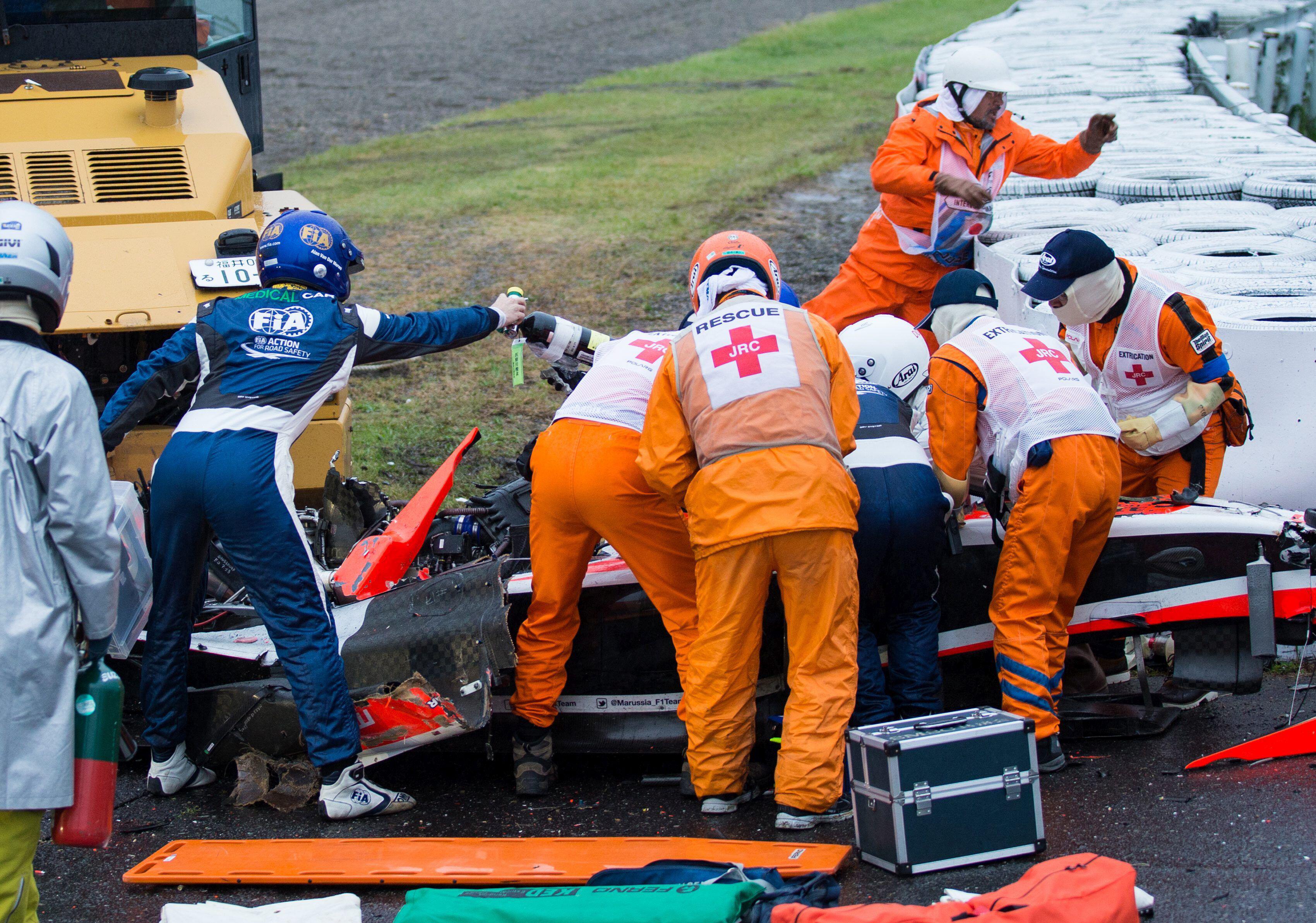 Bild zu Formel-1-Pilot Jules Bianchi ist beim Großen preis von Japan schwer verunglückt.