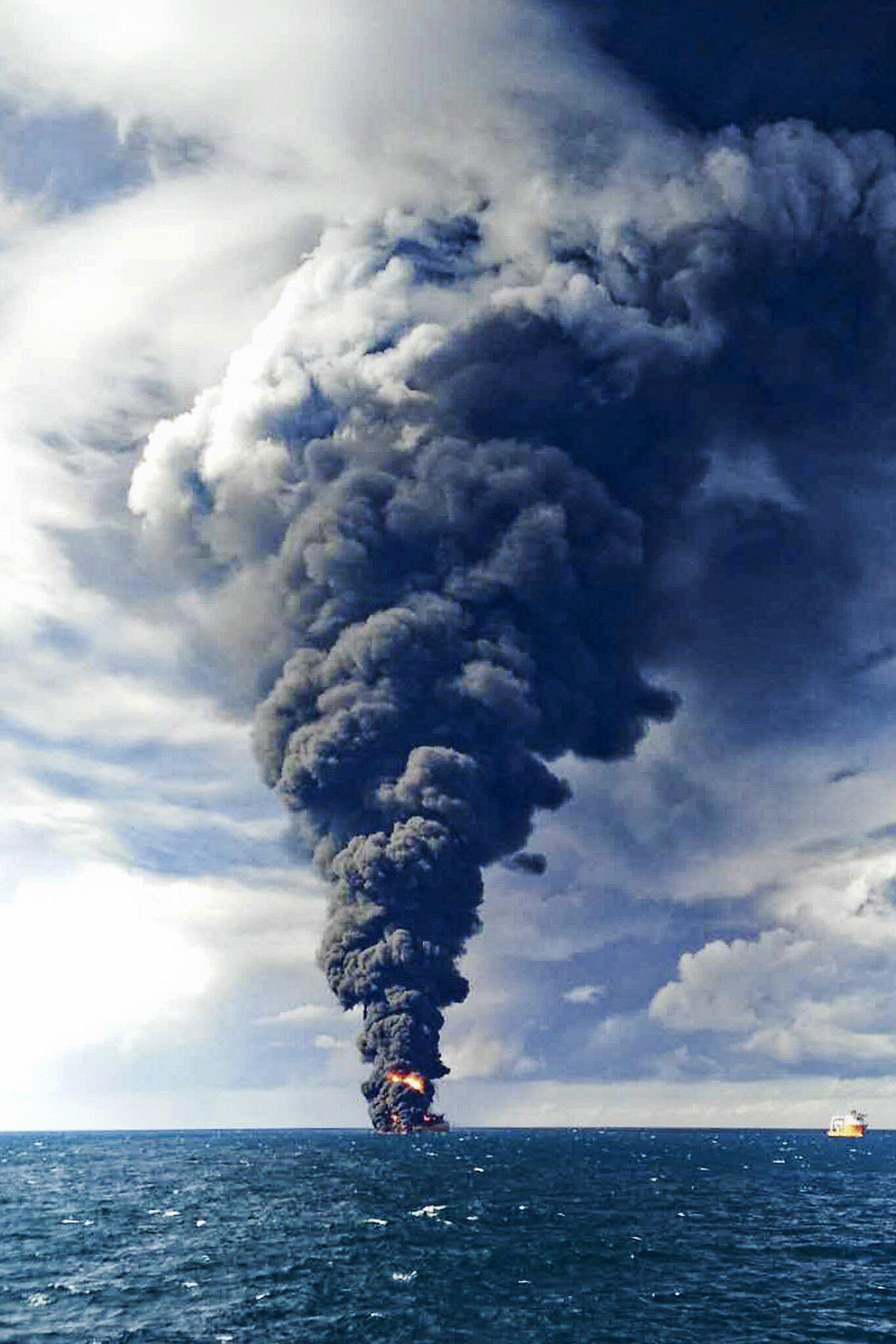 Bild zu Brennender Tanker «Sanchi»