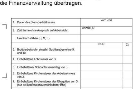Lohnsteuerbescheinigung für 2014