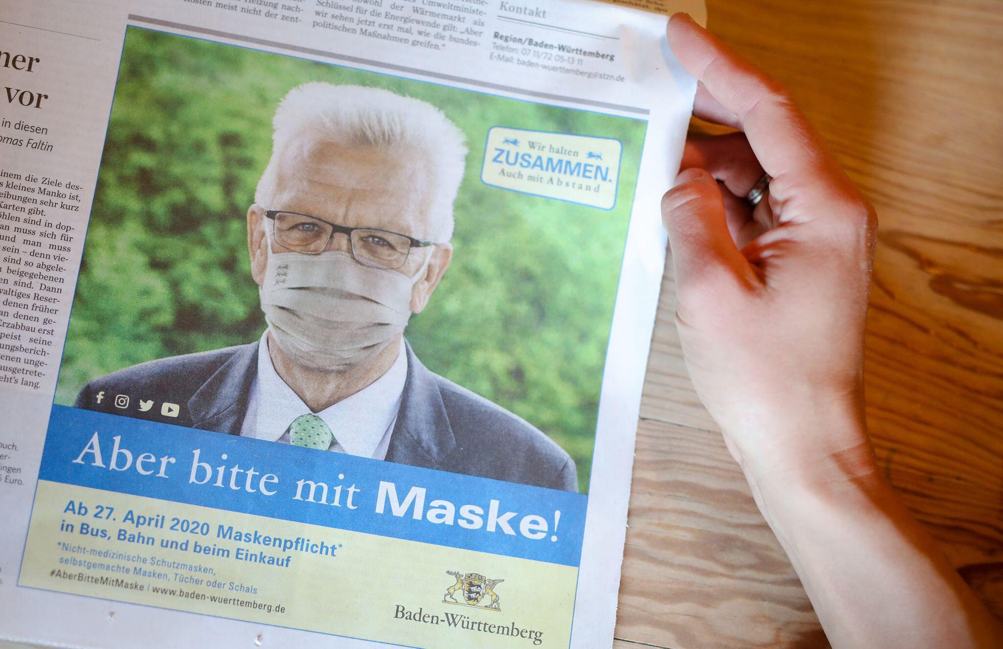 Bild zu Zeitungsanzeige der Landesregierung