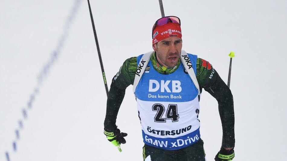 Biathlon, Biathlon-WM, Arnd Peiffer, Östersund, Einzelrennen, Ziel