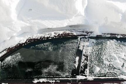 Im Schnee begraben