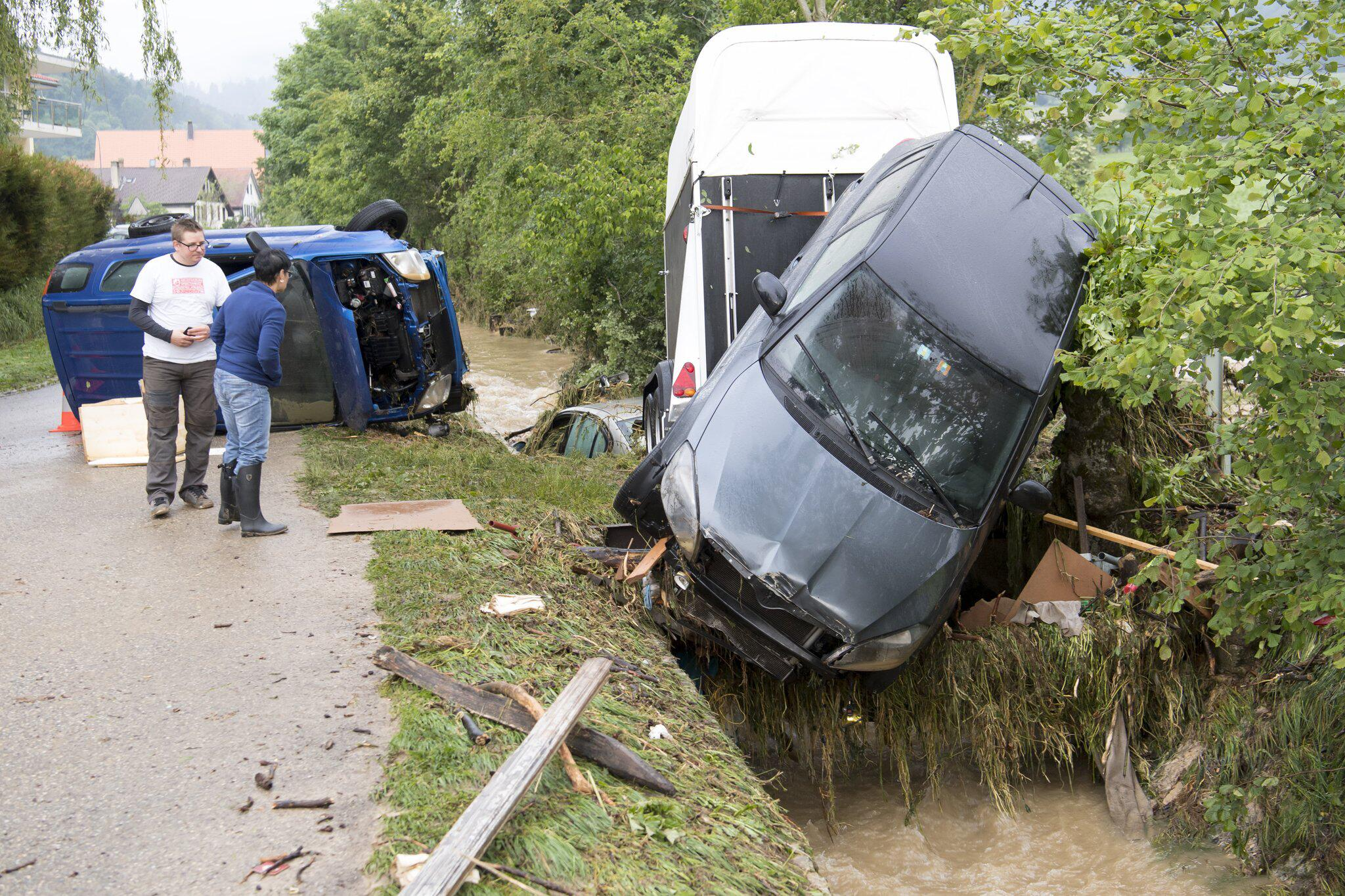 Bild zu Nach Unwetter in der Schweiz