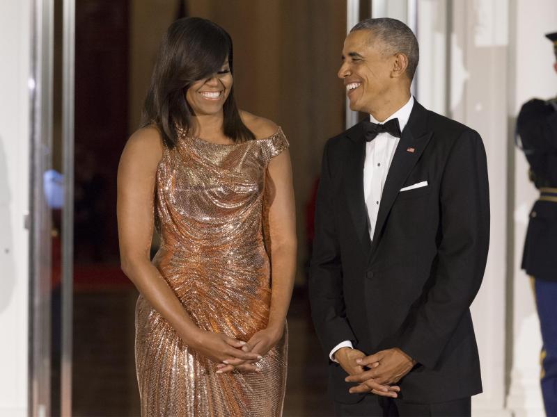 Bild zu Michelle und Barack Obama
