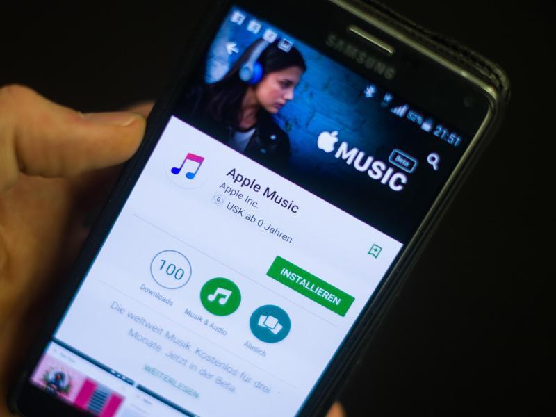 Bild zu Apple Music auf Android-Handy