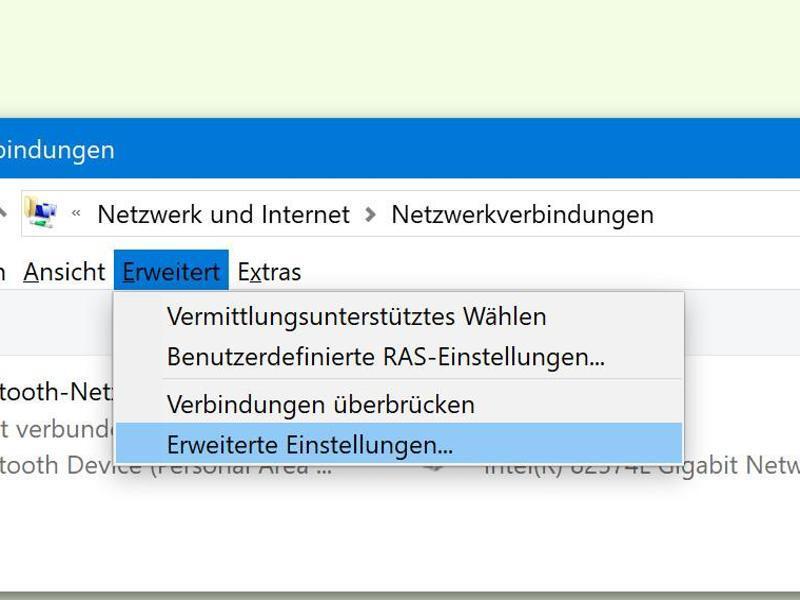 Bild zu Ethernet auswählen
