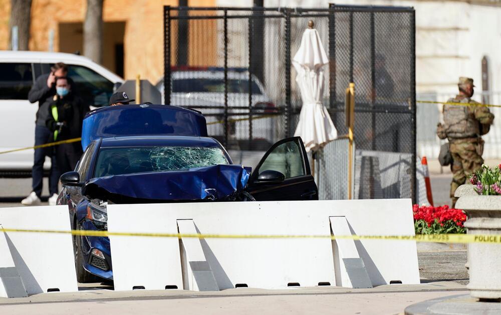 Vorfall am US-Kapitol - Mann rammt Polizeisperre