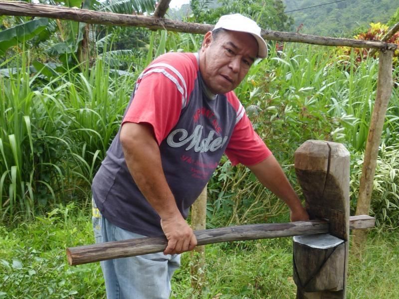 Bild zu Irvince Auguiste mit einer Zuckerrohrpresse