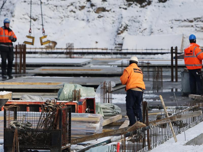 Bild zu Baustelle im Winter