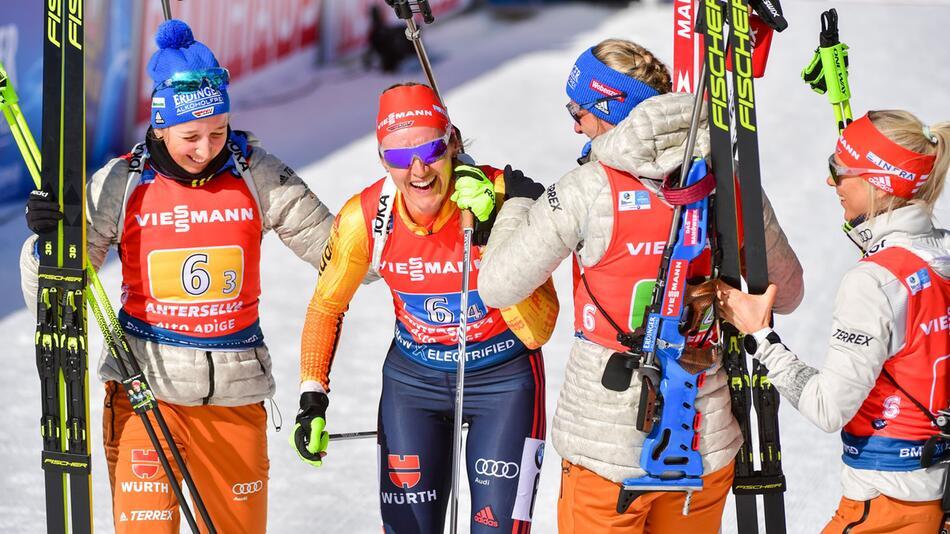 Biathlon - Weltmeisterschaft/Weltcup: Staffel-Silber