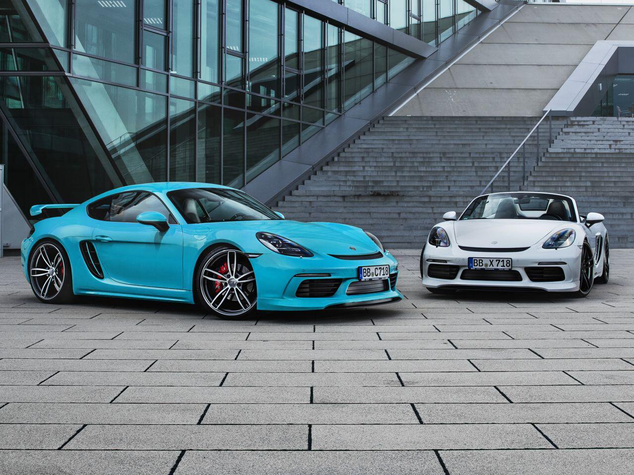 Bild zu Porsche 718 Cayman und Boxster von Techart