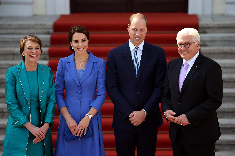 Bild zu Angela Merkel, William, Kate
