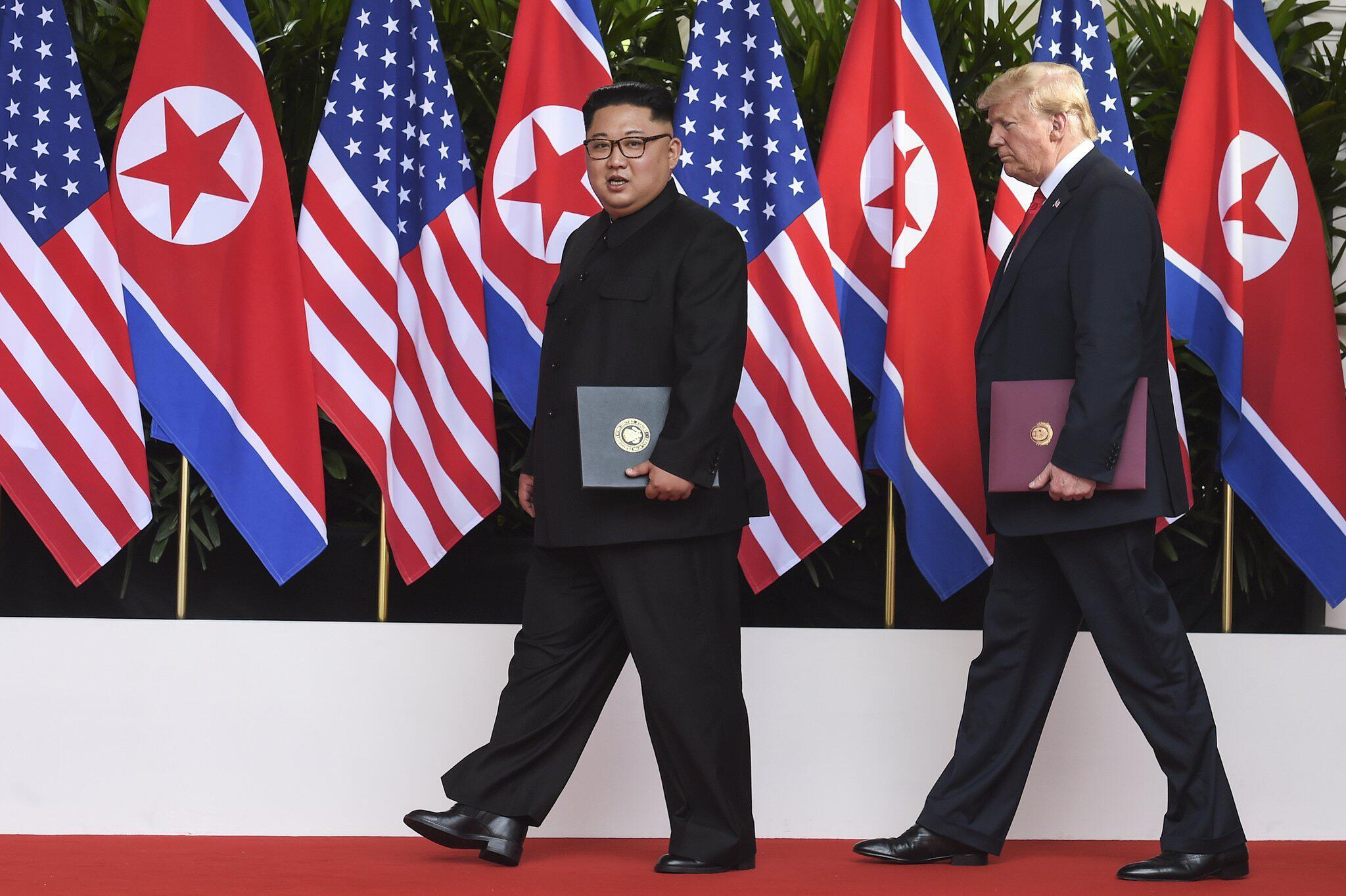 Bild zu Kim Jong Un und Donald Trump