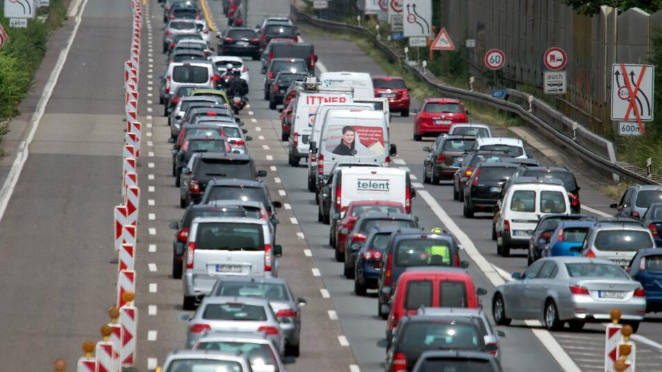 Baustelle auf NRW-Autobahn