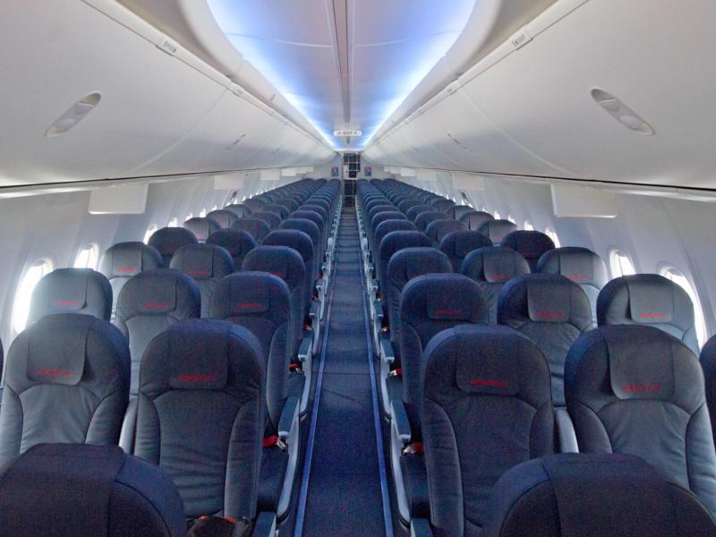 Bild zu Sitze in einem Flugzeug
