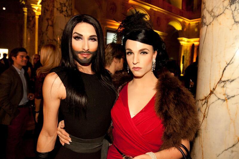 Bild zu Conchita Wurst und Tamara Mascara