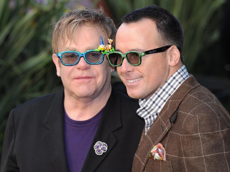 Bild zu Elton John & David Furnish