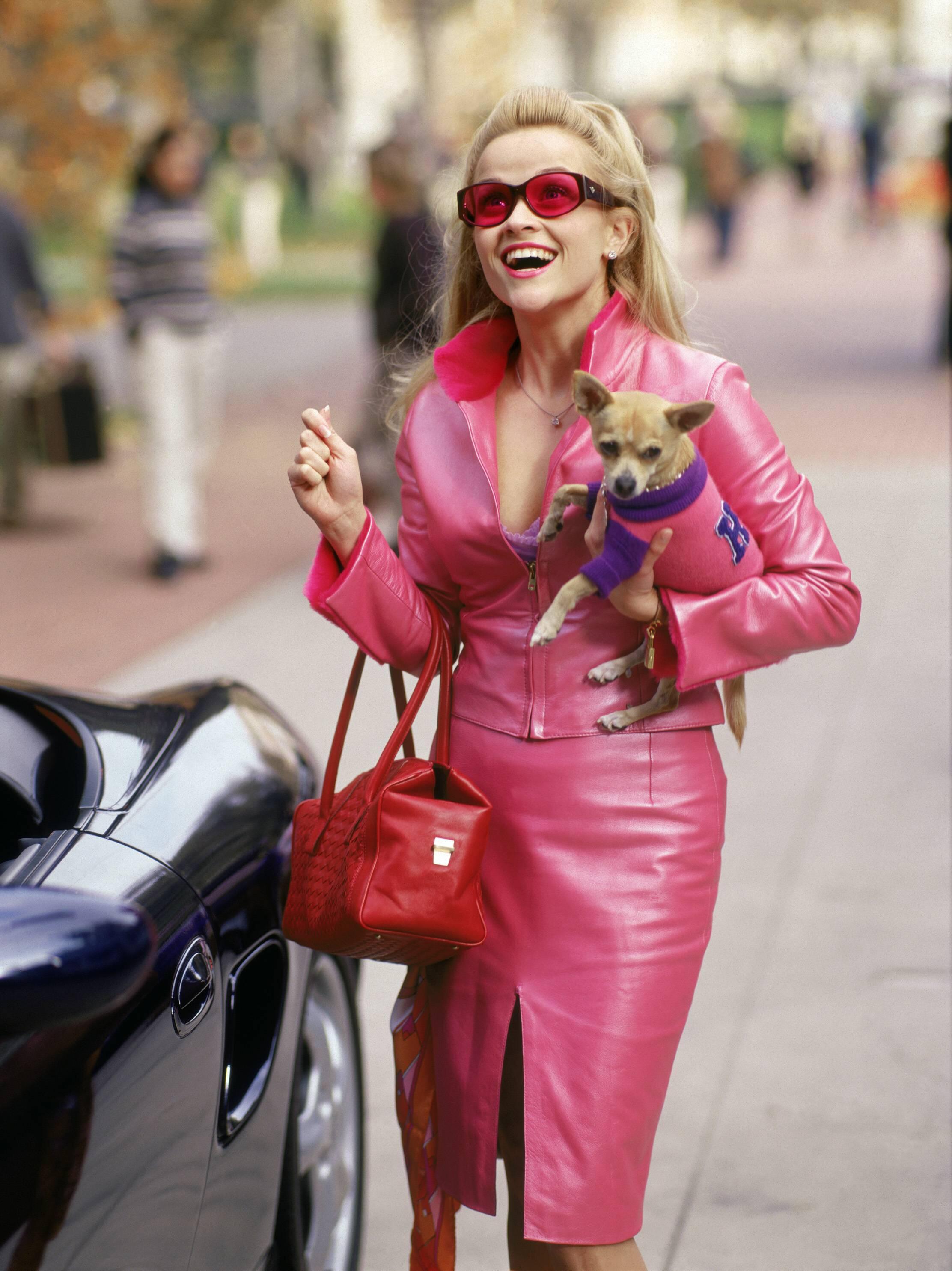 Bild zu Reese Witherspoon, Natürlich blond, Hund, pink, blond