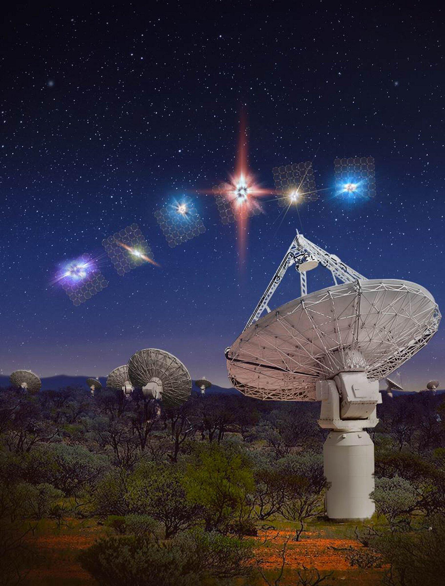 Bild zu Suche nach kurzen Radioblitzen