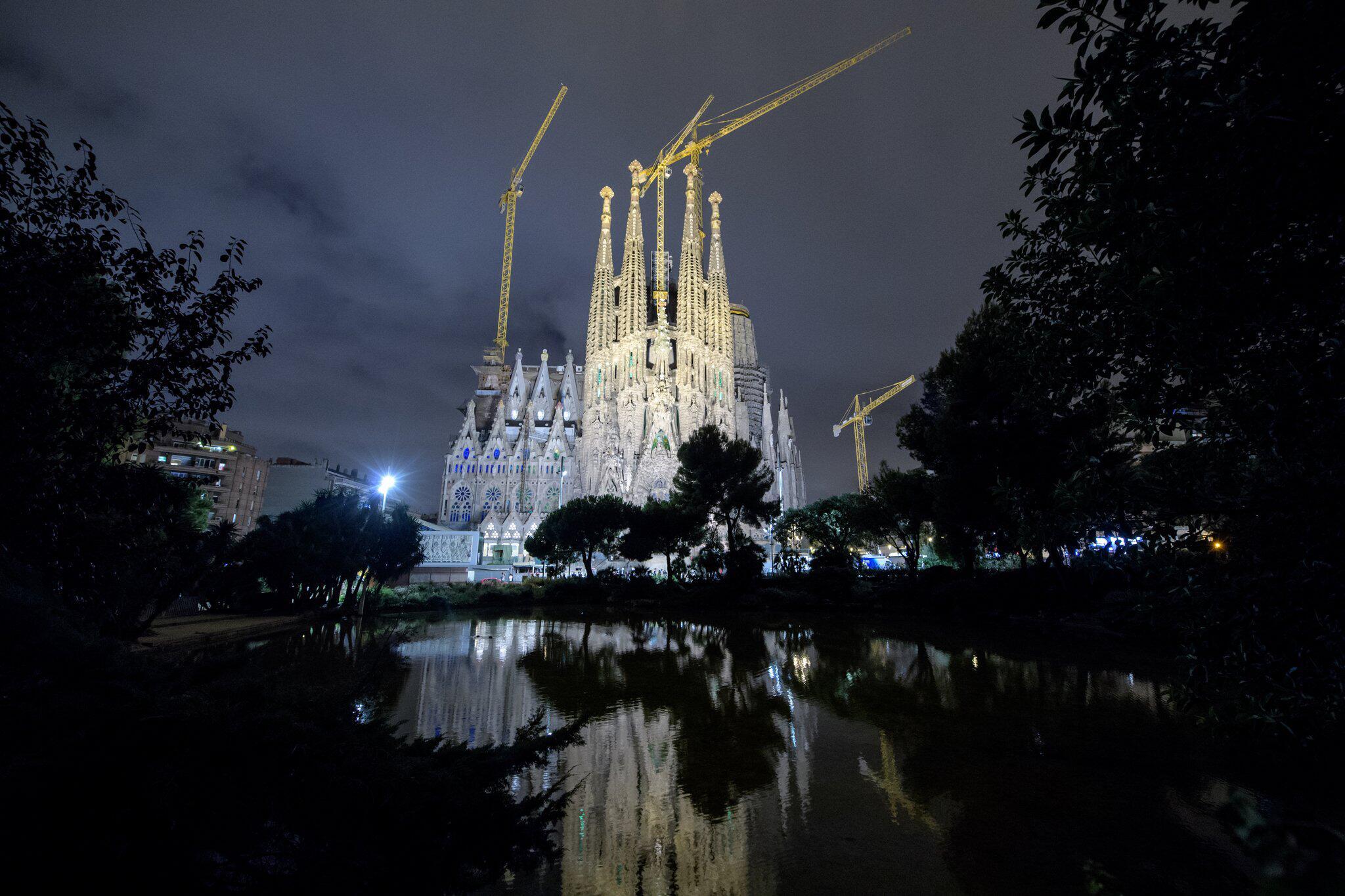 Bild zu Sagrada Familia, Barcelona, Baustelle, Basilika, Spanien, Katalonien, Antonio Gaudi, Bauwerk, Kirche