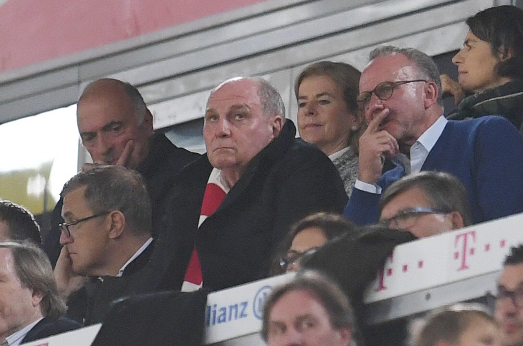 Bild zu Bundesliga, Bayern München - Borussia Mönchengladbach, Uli Hoeneß, Karl-Heinz Rummenigge