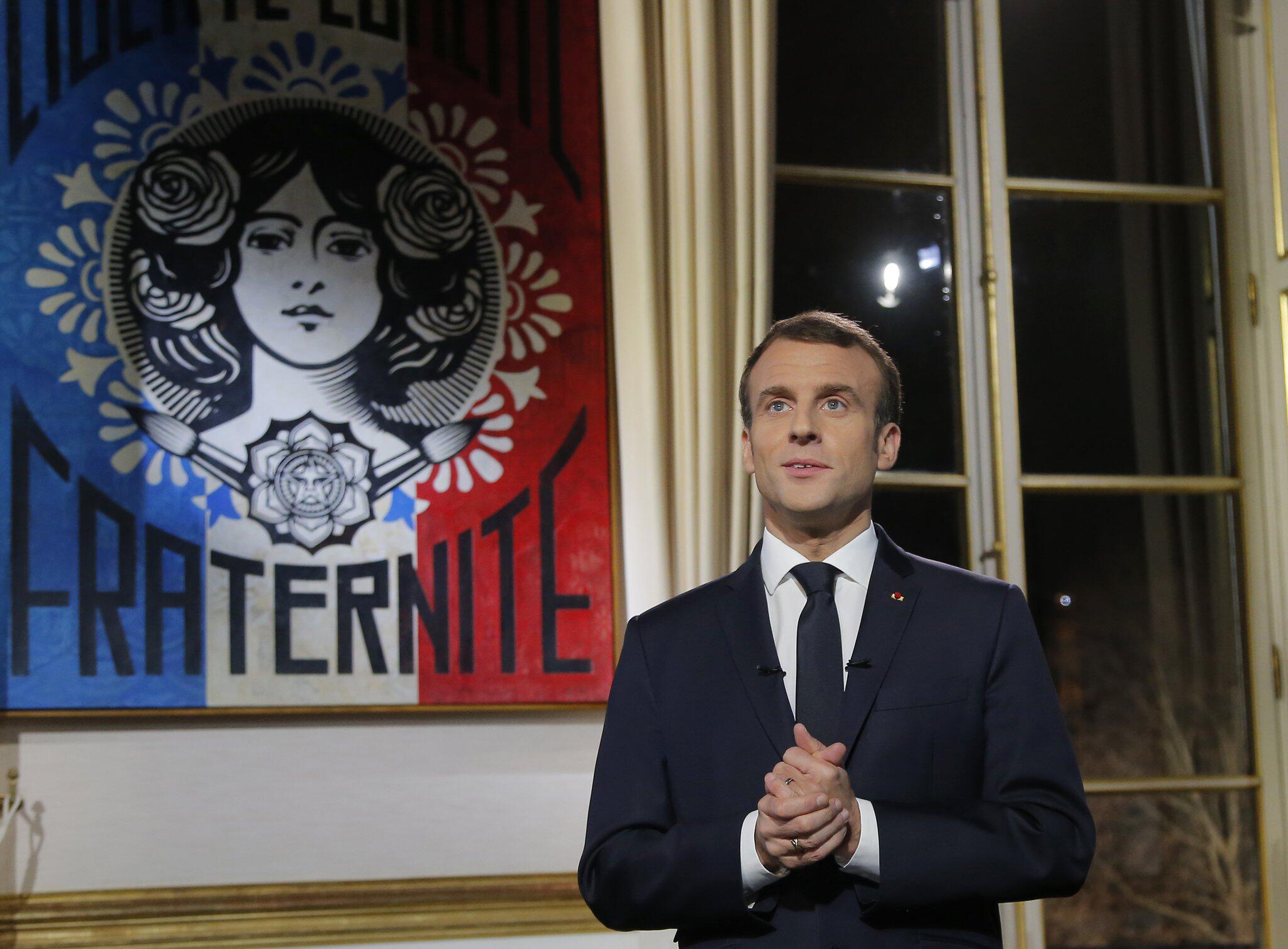 Bild zu Neujahrsansprache Emmanuel Macron