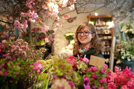 Nicole Waldschmidt wird Floristin
