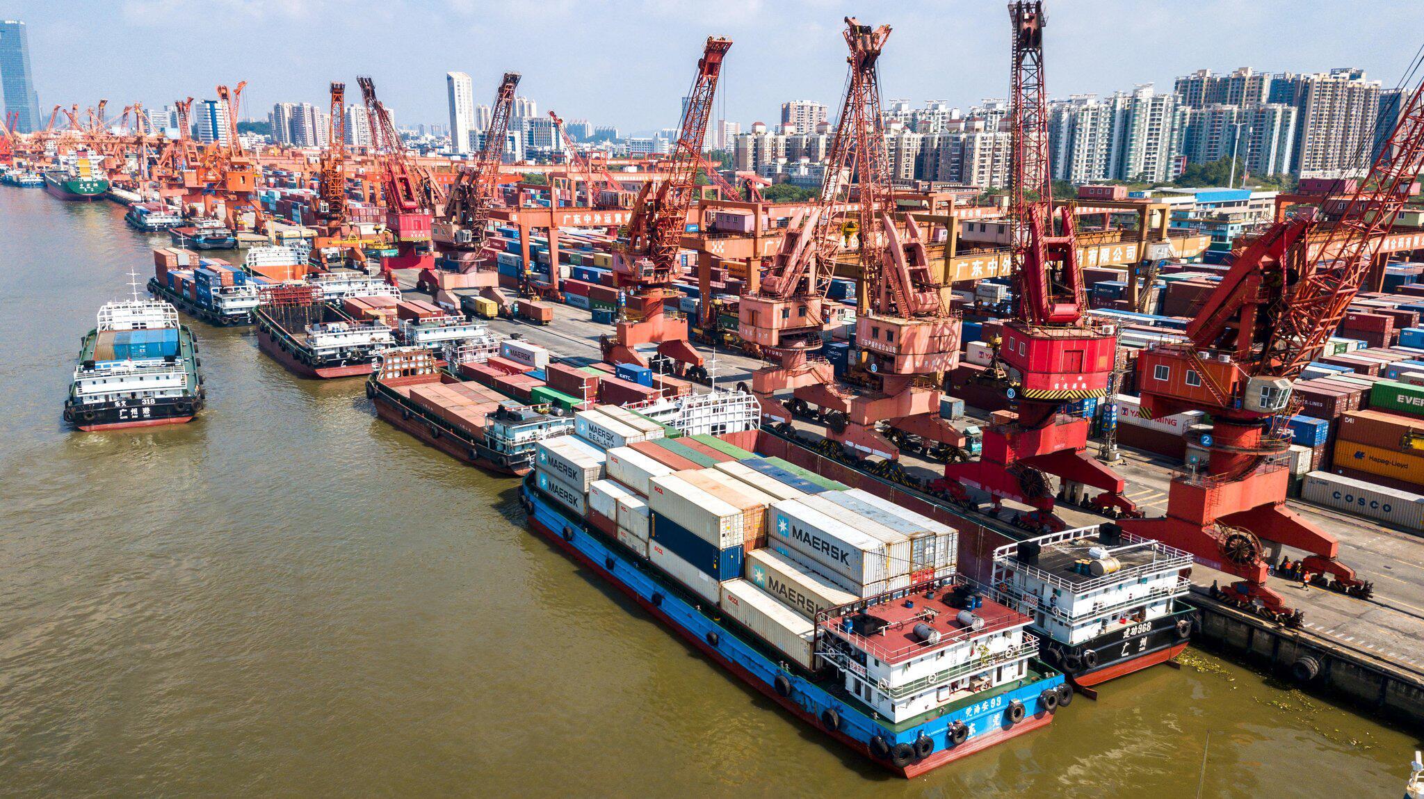 Bild zu Containerterminal von Guangzhou