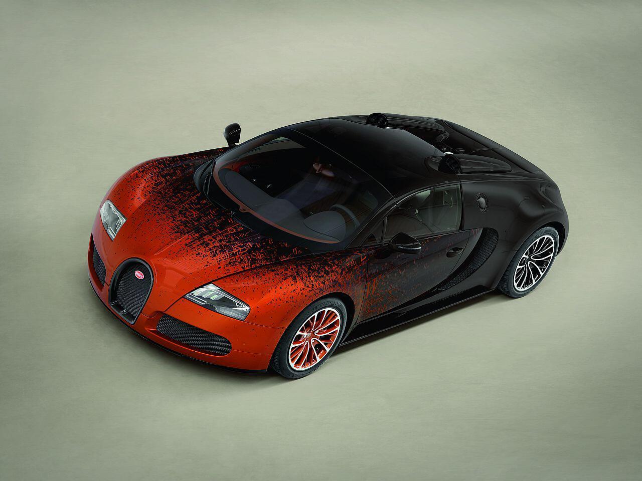Bild zu Hier muss man genau hinschauen: Die Lackierung dieses Veyron ist sehr speziell