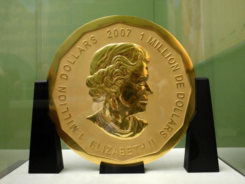 Bild zu 100 Kilogramm schwere Goldmünze