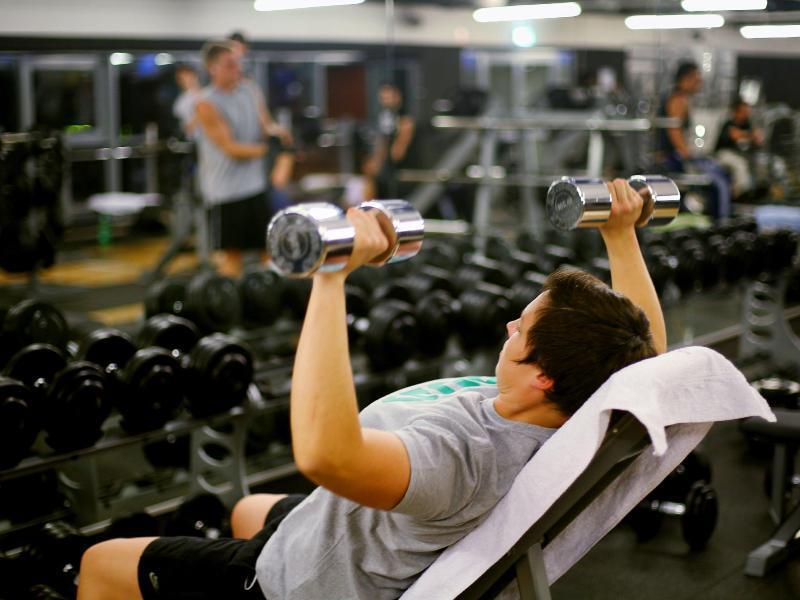 Bild zu Training im Fitnessstudio