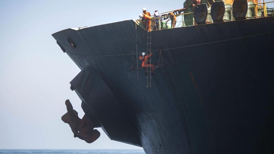 Supertanker «Grace 1» vor Gibraltar