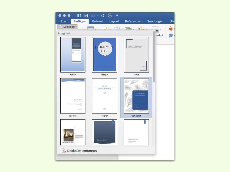 Bild zu Deckblatt in Word erstellen