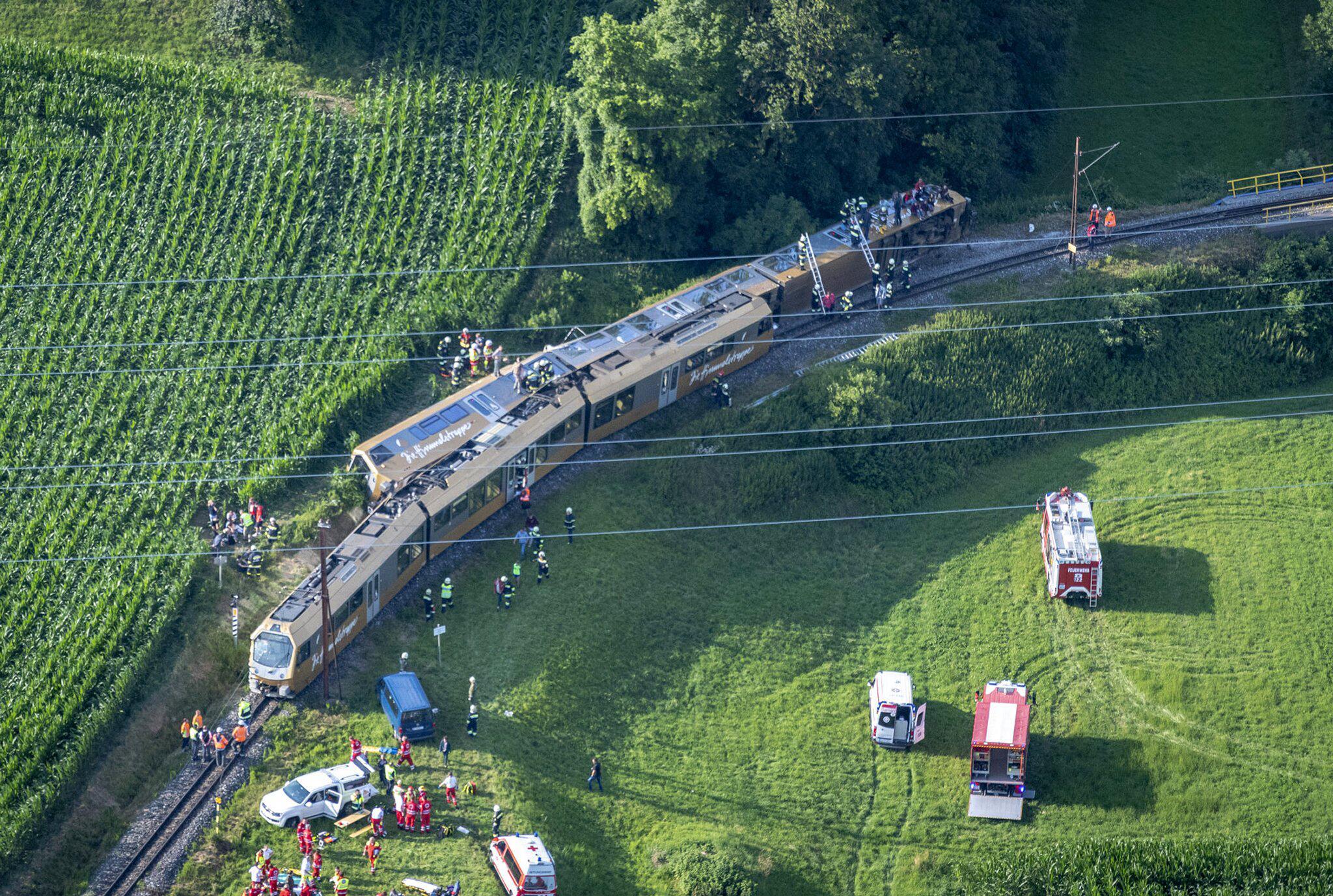 Bild zu Zugunglück in Österreich