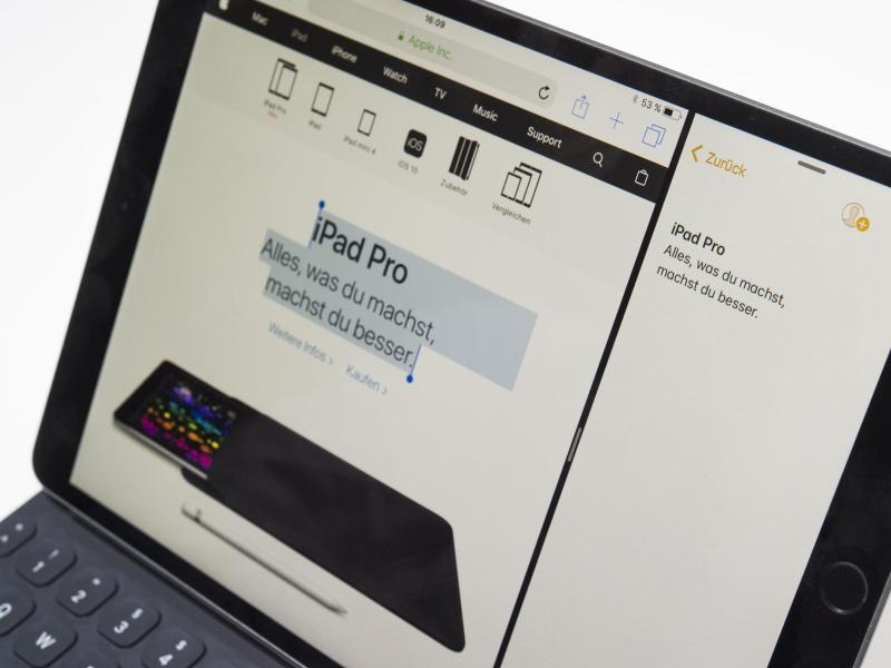 Bild zu Texte per Fingerwisch in Apps ziehen