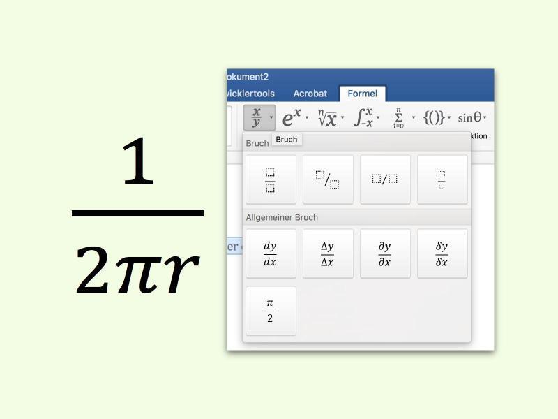 Bild zu Mathematische Brüche