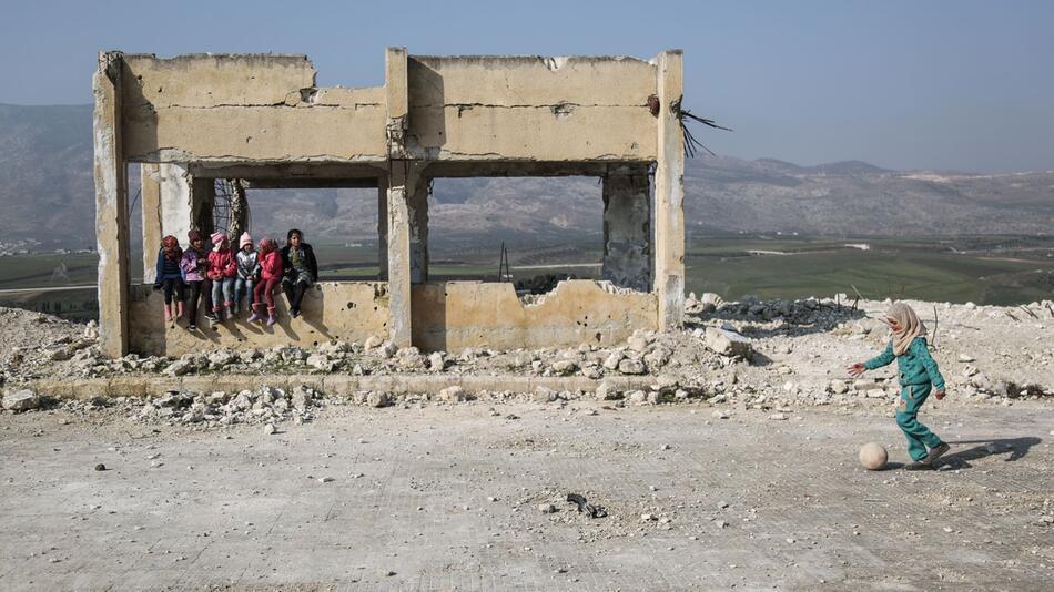 Beschädigte Schule in Syrien