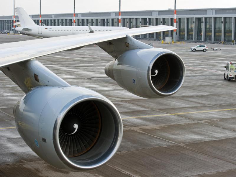 Bild zu Triebwerke einer Boeing 747