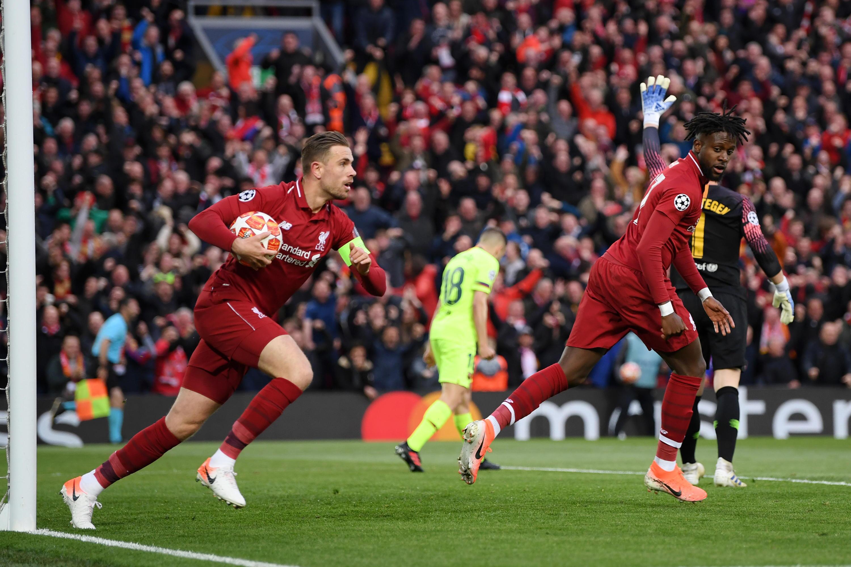 Bild zu FC Liverpool, FC Barcelona, Champions League, Halbfinale, Tor, Jordan Henderson, Divock Origi