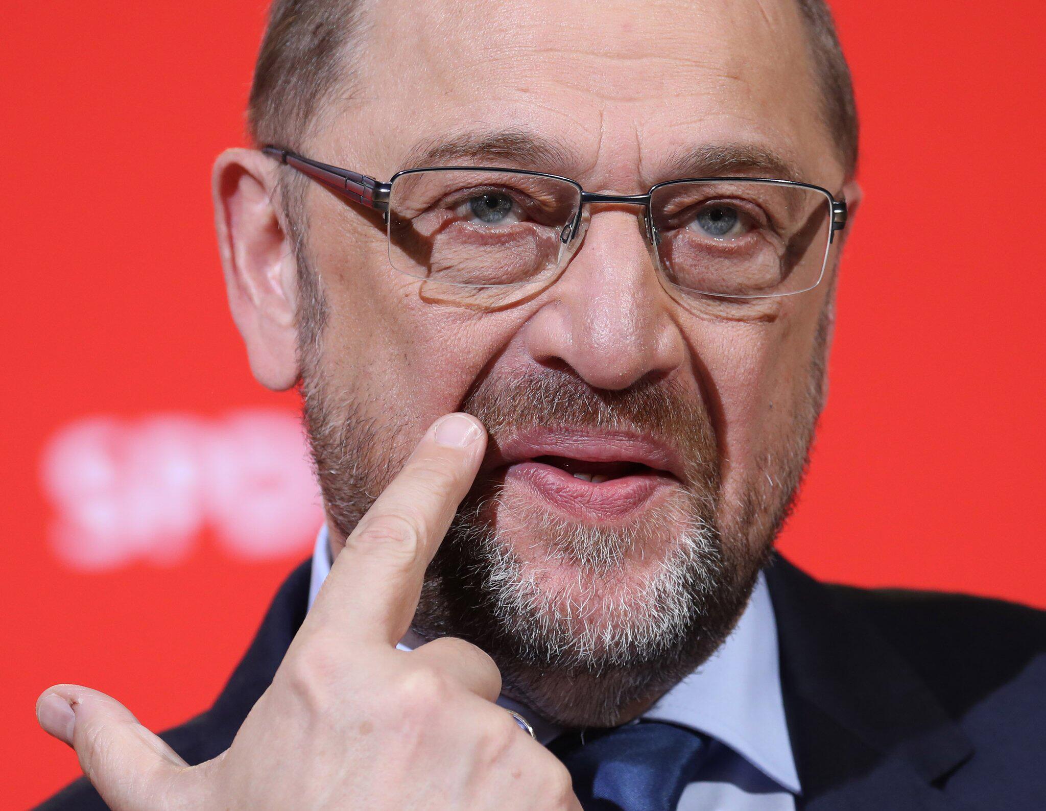Bild zu Martin Schulz press conference